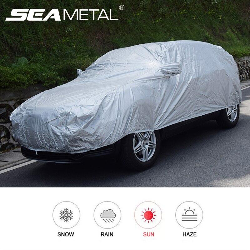 Cubierta Exterior para coche cubierta de protección Exterior cubiertas para coche entero cubierta de nieve sombrilla impermeable a prueba de polvo Universal para Hatchback Sedan SUV