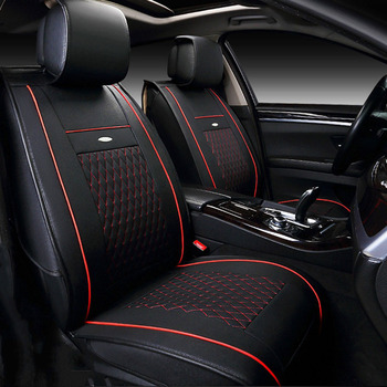 Universal Leather 5 Seat Covers Set for Cars Interior Sit Protector Accessories for Toyota Camry Corolla Rav4 Prius 20 30 Tacoma