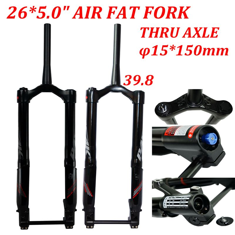 MTB Moutain 26inch Bike Fork Fat bicycle Fork Air Suspension snow Forks Aluminium Alloy 265.0Tire thru axle15*150 1-1/2centrum image