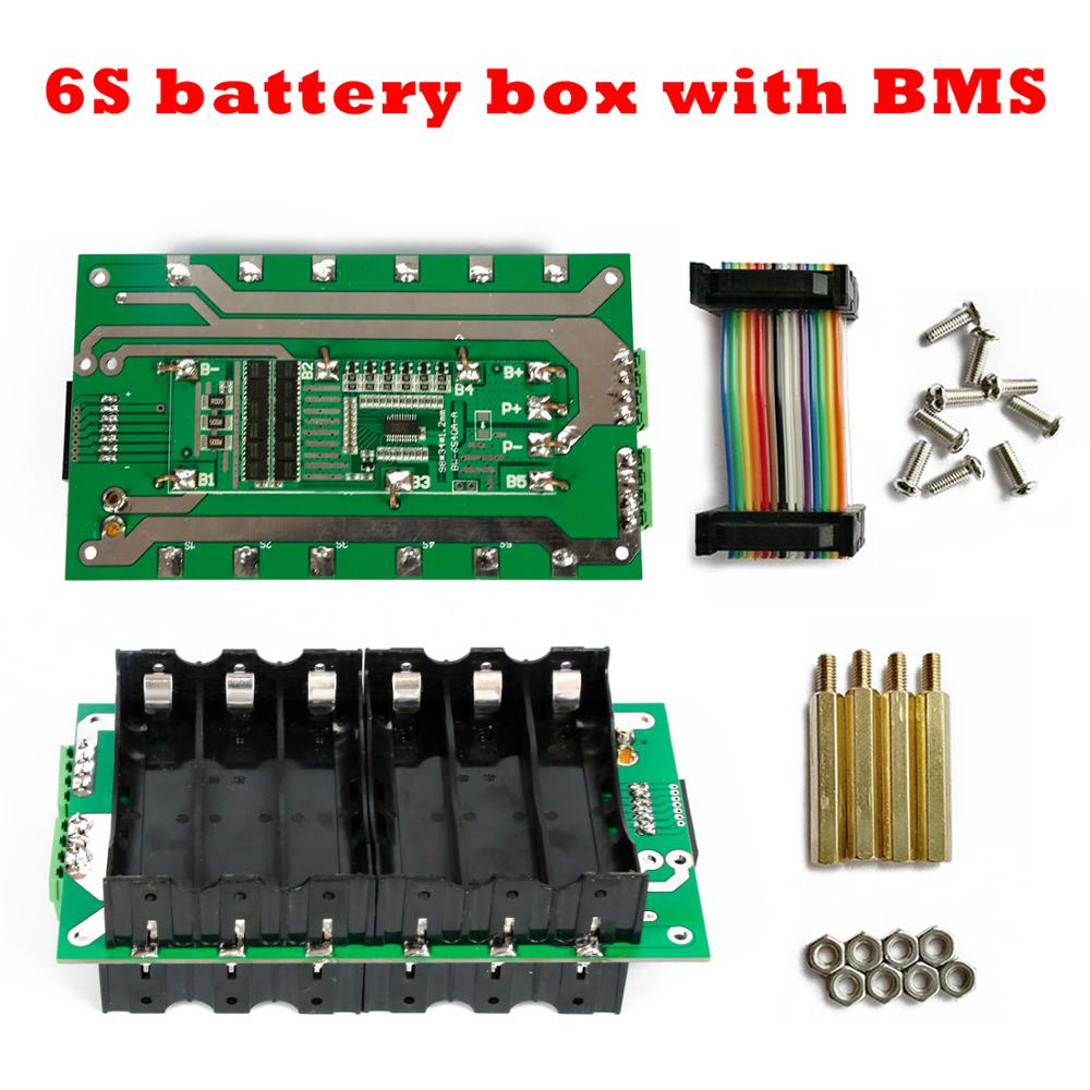 24V 18650 Power Wall 6s Battery Pack 6S Bms Li-ion Lithium 6S Battery Box PCB Board 40A 80A DIY