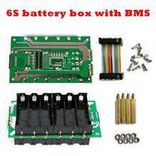 цены 6S battery box 6S BMS 18650 DIY box battery Power Wall 24V Li-ion Lithium 18650 Battery Pack BMS PCB board Battery holder