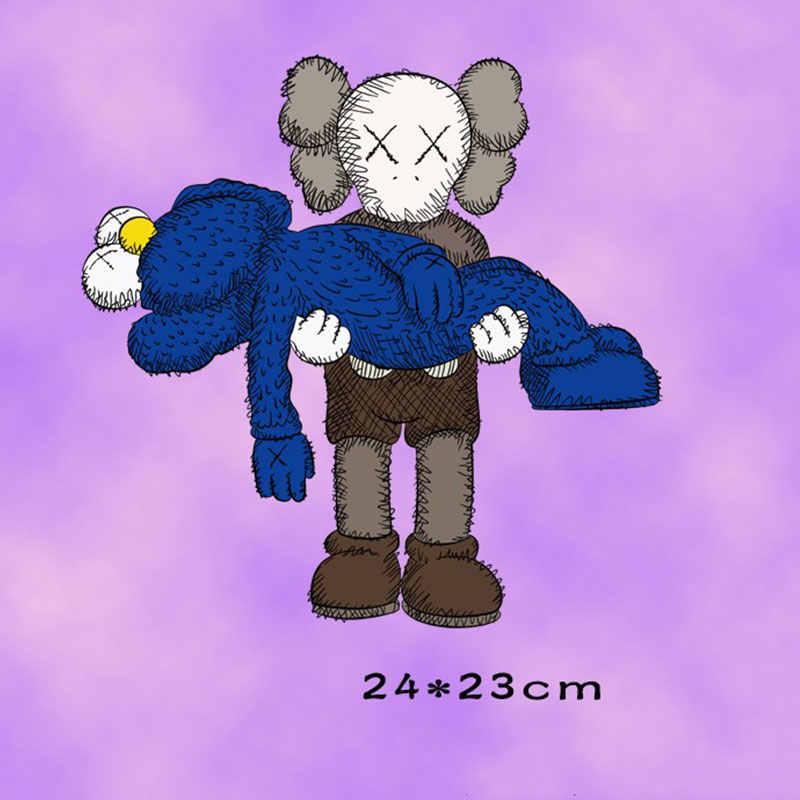 Ferro no remendo animal dos desenhos animados personagem crânio remendos para vestuário adesivos em roupas transferências de calor aplicações diy apliques