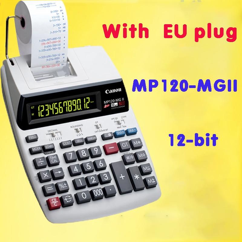 calculadora mp120 mgii grande desktop plug in dupla cor impressao computador 12 digitos com pequeno rolo