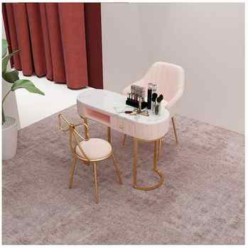 Nordic nail art table and chair set combination marble online celebrity single double special nail art table manicure table - DISCOUNT ITEM  26 OFF Furniture