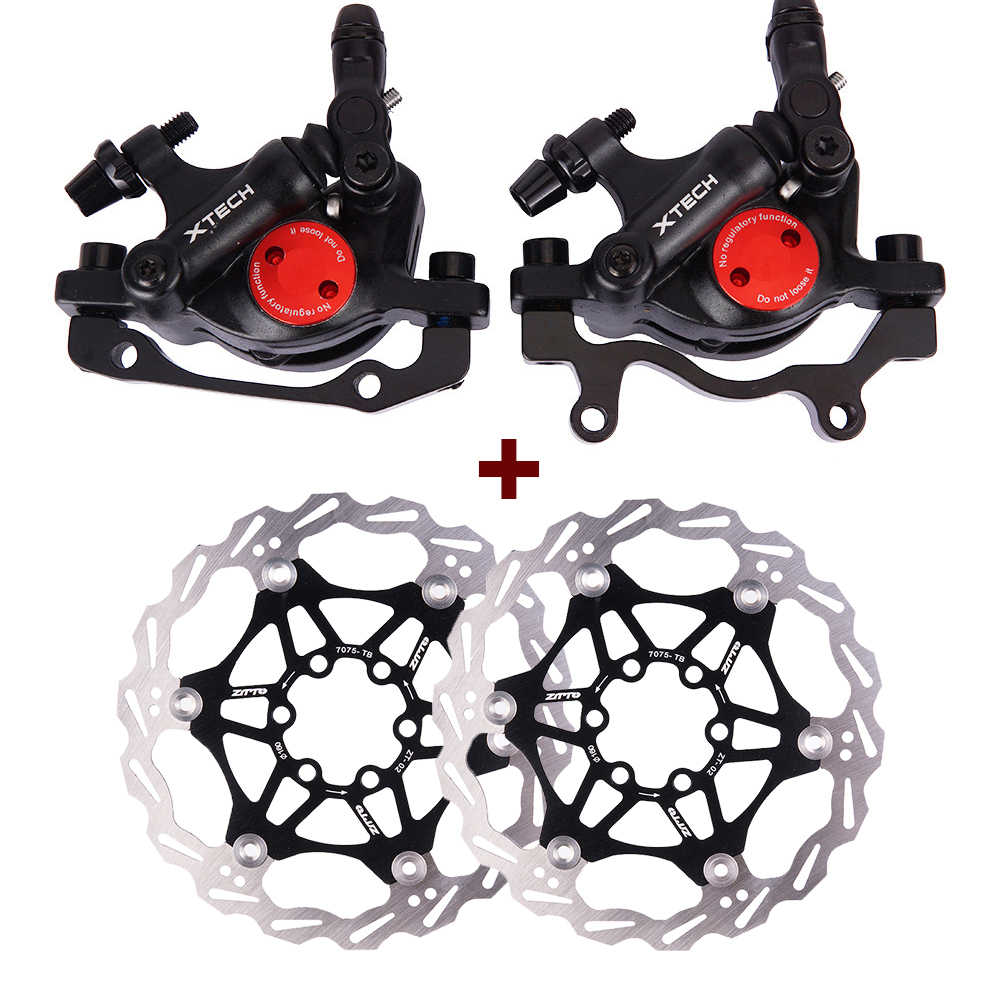 Mountain MTB Bike Disc Brakes Hydraulic Mechanical pull Calipers Front Rear set