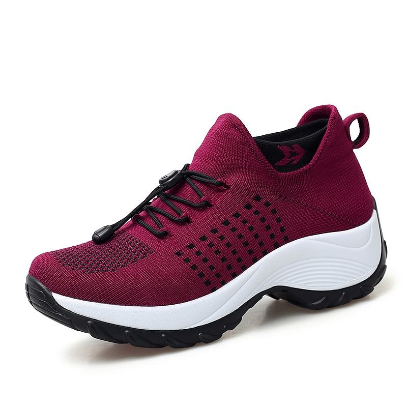 mesh breathable women casual shoes korean platform ladies comfortable sneakers high increasing female moccasins vulcanized woman (32)