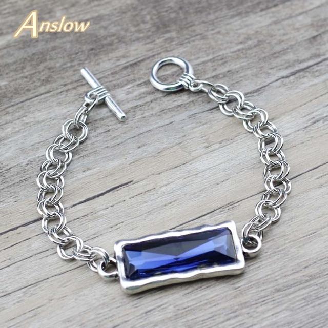 Женские браслеты-цепочки с кристаллом