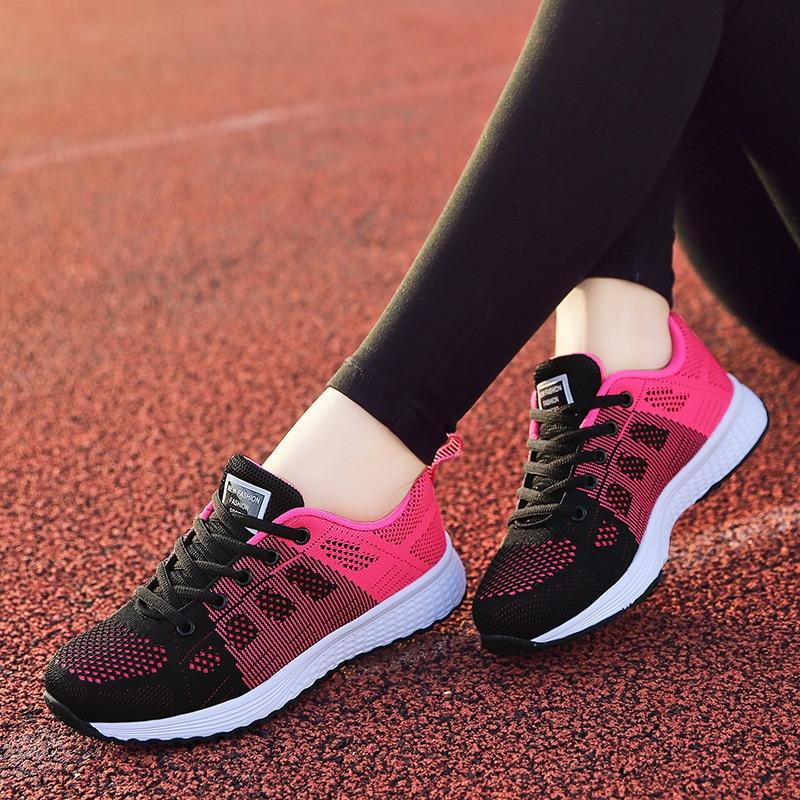 Женские кроссовки размера плюс 42, плотные сетчатые тканые женские кроссовки, однотонные черные кроссовки из искусственной кожи на шнуровке...