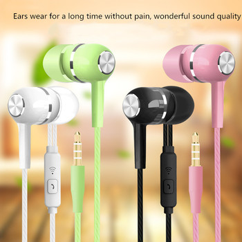 2019 New Sport Earphone wholesale Wired Super Bass 3.5mm Crack Colorful Headset Earbud with Microphone Hands Free for Xiaomi 1