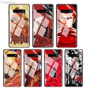 SLAM DUNK Anime Case For Samsung Galaxy S20 Ultra Plus S10 5G S10e S8 S9 Note 10 Tempered Glass Phone Black Soft Cover(China)