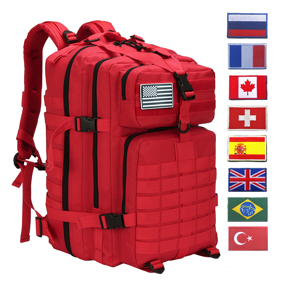 50L Military Tactical Backpack Training Gym Fitness Bag Man Outdoor Hiking Camping Travel Rucksack Trekking Army Molle  Backpack