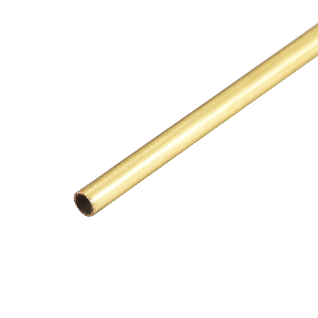 Uxcell Brass Round Tube 300mm Length 2mm OD 0.2mm Wall Thickness Seamless Straight Pipe Tubing