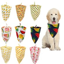 Adjustable Fruit Print Pet Dog Scarf Colorful Personalized Dog Bandana Dog Cat Bow Tie Scarf Dog Bandana Pet Grooming Tool недорого