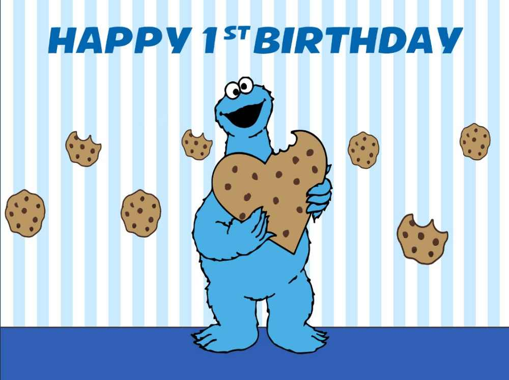 7x5ft Happy Birthday Cookie Monsters Sesame Street Custom Photo Studio Background Backdrop Vinyl 220cm X 150cm Background Aliexpress