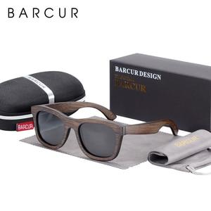 Image 5 - BARCUR Wood Sunglasses Bamboo Brown Full Frame Wooden Sun Glasses Men Polarized Vintage Women Eyewear