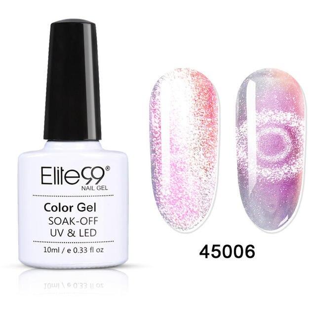 Elite99 10ml Shiny Galaxy Chameleon Katze Auge UV Und LED Gel Nagellack Tränken Weg Von Semi-permanent Lack hybrid Top Mantel Basis Mantel