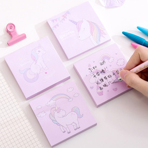 1 pcs 80 pages Kawaii Rainbow Unicorn Sticky Notes Creative Post Notepad Cute DIY Memo Pad Office Supplies School Stationery