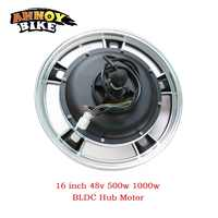 Electric Bike conversion kit 16 inch 48v 500w 1000w BLDC Hub Motor for mountain bike Front Drive Rear Drive electric Motor wheel