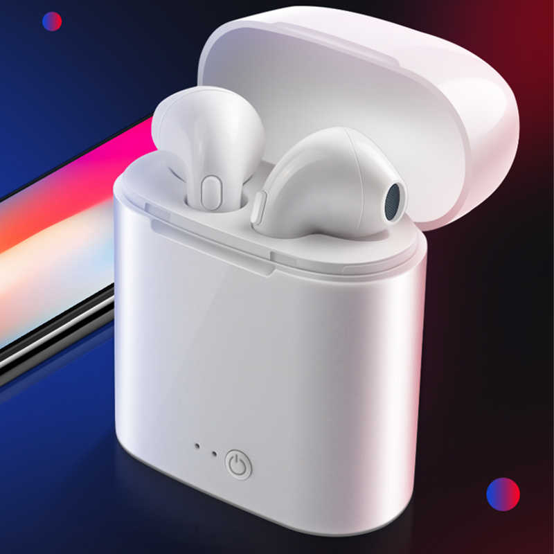 I7s Tws Wireless Bluetooth Earphone In-Ear Stereo Gaming Sport Earbud dengan Pengisian Kotak untuk iPhone Xiaomi Huawei