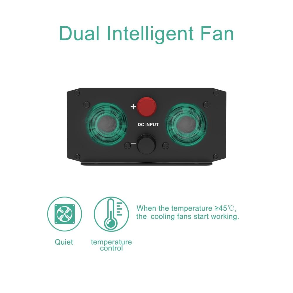 TULCAR инвертор 1000 Вт 2000 Вт Модифицированная синусоида DC 12 В AC 220 В 230 в 240 В с ЖК-дисплеем