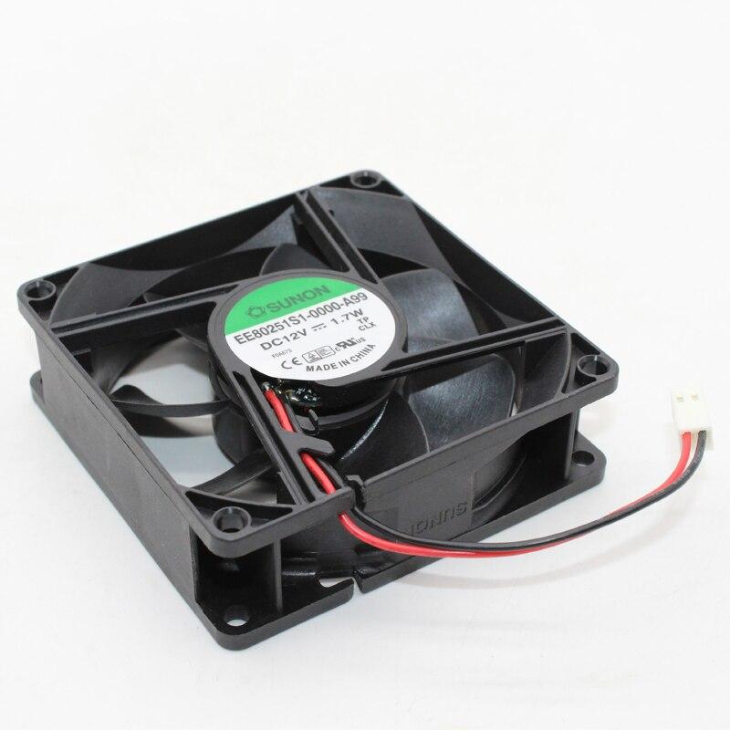 EE80251S1-0000-A99 Nieuwe Voor Sunon Dc 12V 1.7W 8Cm 8025 Maglev System Cooling Fan
