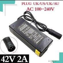 42V 2A E Xe Đạp Sạc Pin Lithium 36V 10S Xe Đạp Điện Lithium Pin XLR Cắm đầu Vào 100 240V Miễn Phí Vận Chuyển