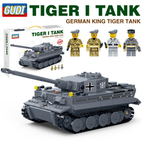 Newest Gudi Compatible ww2 military tank tiger M1A2 ABRAMS model building blocks world war 2 Germany arme vehicles plane battle