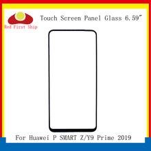 10 ピース/ロット Huawei 社 Y9 プライム 2019 タッチパネルフロントアウターガラスレンズタッチスクリーン 1080p スマート Z 液晶ガラス交換