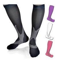 Хит, компрессионные чулки унисекс, нейлоновые чулки для варикозной вязки, гольфы до колена, эластичные циркуляционные носки для ног