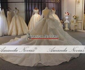Image 3 - รูปภาพจริง Big Ball Gown ชุดแต่งงาน 2020 ชุดแต่งงานลูกไม้ Mariage เจ้าสาวหรูหรา