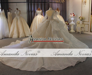 Image 3 - Real Photos Big Ball Gown Wedding Dresses 2020 Lace Wedding Dresses Mariage Bridal Gowns Luxury