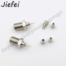 100Pcs Nickel Plated F Female To TS9 & CRC9 Male Plug Coaxial Adapter RF Connector