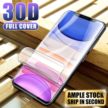30D Hydrogel Film For iPhone 7 8 Plus 6 6s Plus Screen Protector iPhone X XS XR XS Max 11 Pro Max Soft Protective Film Not Glass