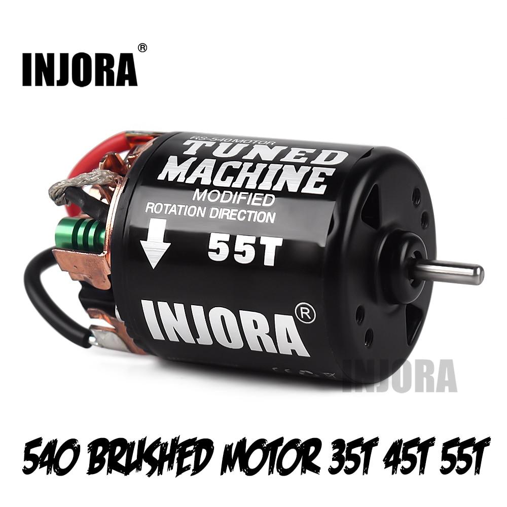 INJORA RC Car 540 Brushed Motor 35T 45T 55T For 1:10 RC Crawler Axial SCX10 AX103007 90046 Traxxas TRX4 D90 MST Tamiya CC01