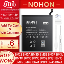 NOHON BN43 BN41 BM46 BM22 BN31 BM3L BM39 BM36 Batterie Pour Xiaomi Mi 4C 5 5S 5X 6 8 Lite Pro 9 SE CC9 Redmi Note 2 3 7 Pro 4 4X 5