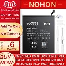 NOHON BN43 BN41 BM46 BM22 BN31 BM3L BM39 BM36 Xiaomi Mi 4C 5 5S 5X 6 8 라이트 프로 9 SE CC9 Redmi 참고 2 3 7 Pro 4 4X 5