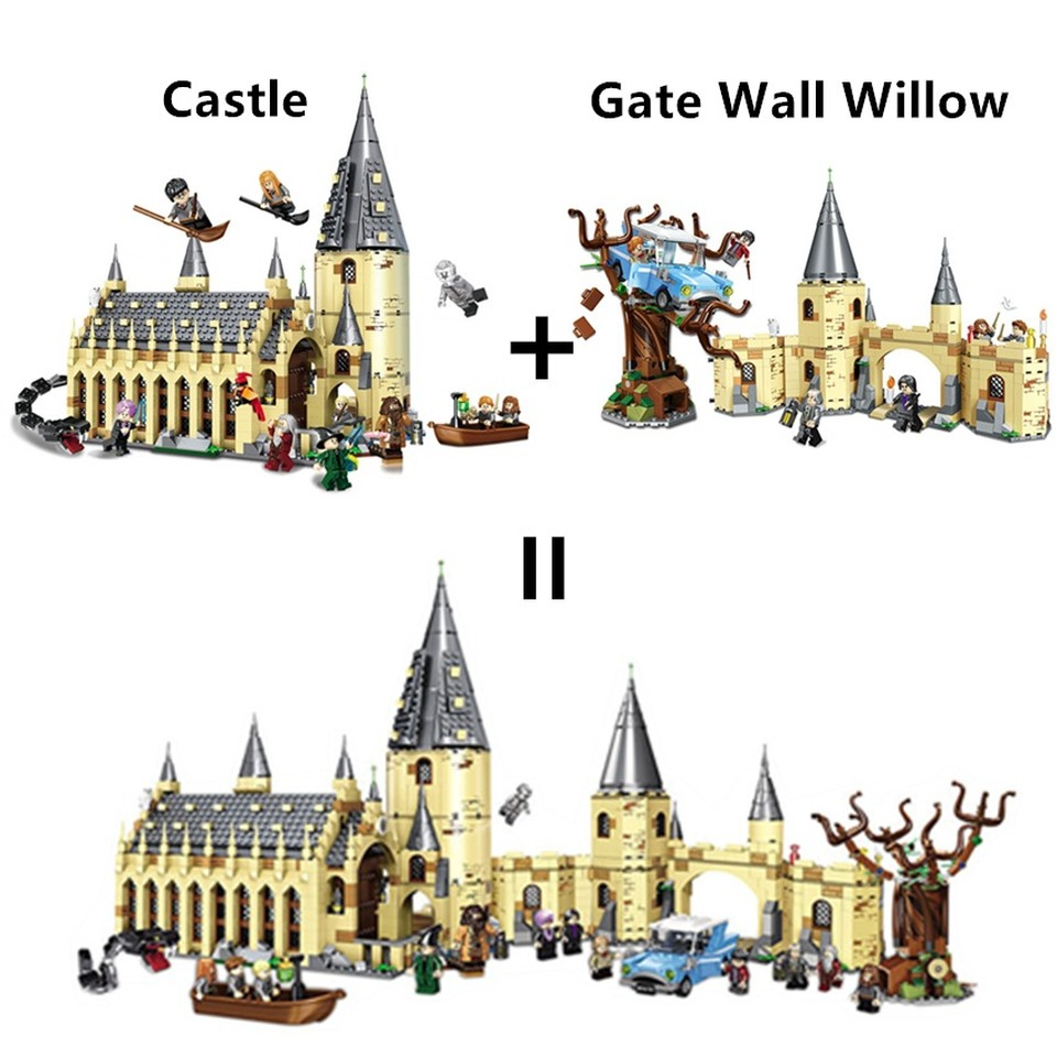 New Harri Magic Castle Hall House Potters Building Blocks Bricks legoinglys Toys for Children Gifts Compatible 75953 75954