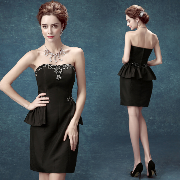Special Offer~Sexy Strapless Formal Black Dress/Party Dress 267