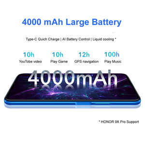 Image 3 - Honor 9X 4 Гб 128 Гб Смартфон глобальная версия 48MP dual caemra мобильный телефон аккумулятор 4000 мАч 6,59 дюйма
