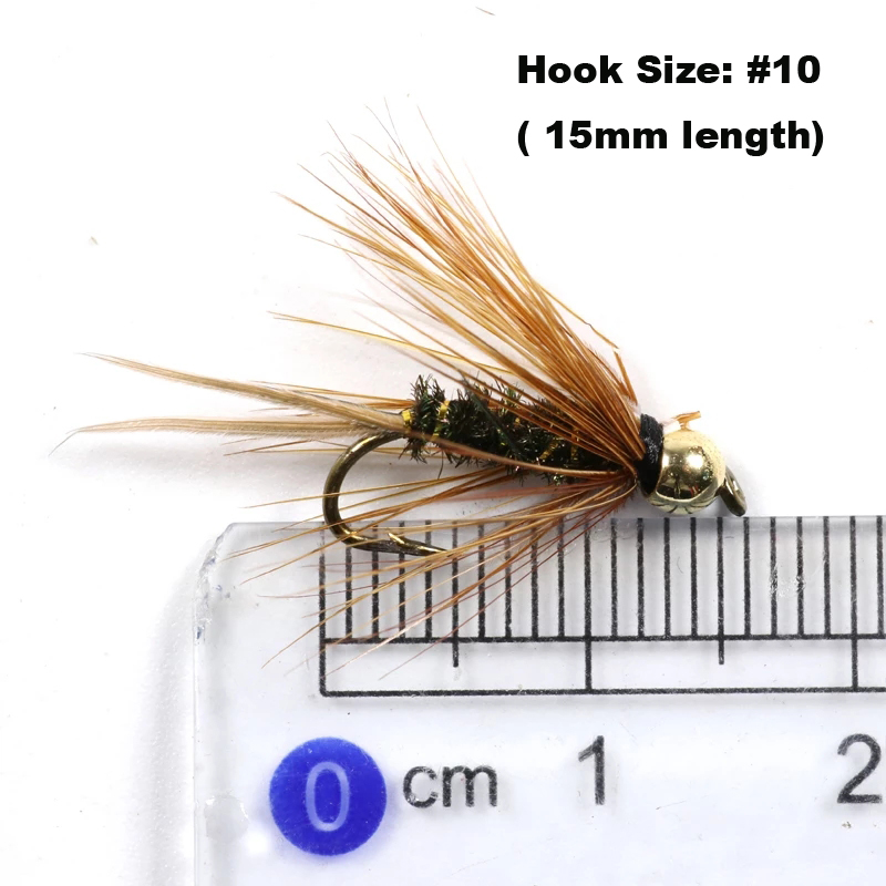 6 Hot Head Crystal Cat Zonkers Winter LURES Size 10 Wet Flies