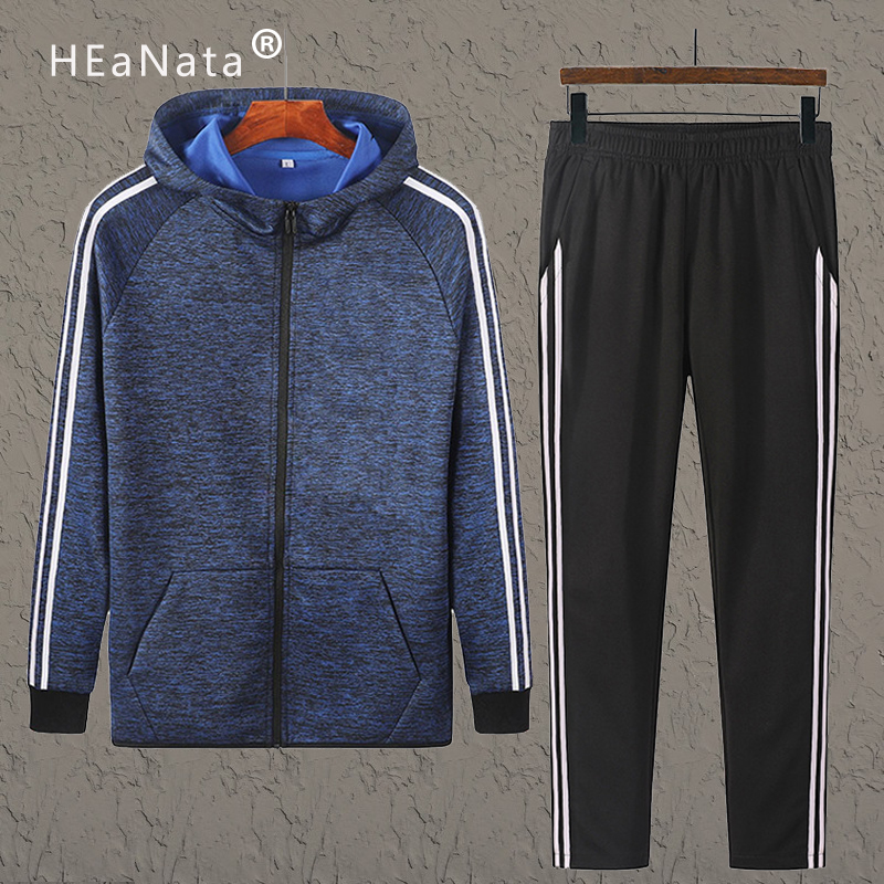 Sportsuits Set Men Fashion Autumn Sporting Suit Zipper Sweatshirt+Sweatpants Mens Clothing 2 Pieces Sets Slim Hoody Tracksuit
