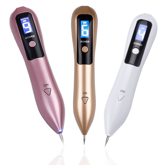 Laser Plasma Pen Freckle Remover Machine LCD Mole Removal Dark Spot Remover Skin Wart Tag Tattoo Remaval Tool Beauty Salon