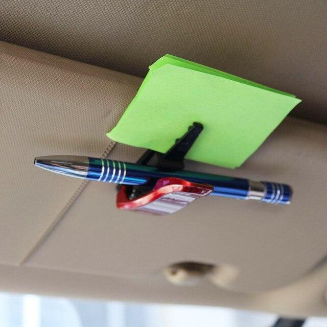 Hot Car Auto Sun Visor Glasses Sunglasses Clip Card Ticket Holder Pen Case Box Universal Accessories