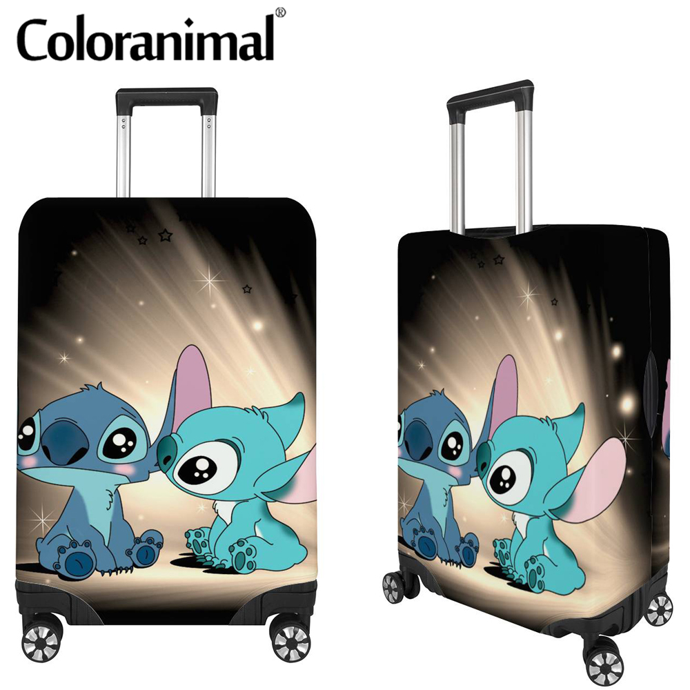 Coloranimal Cute Cartoon Print Luggage Covers Waterproof 18-32in Travel Suitcase Cover Stitch Pattern Trolley Case Cover Waliza