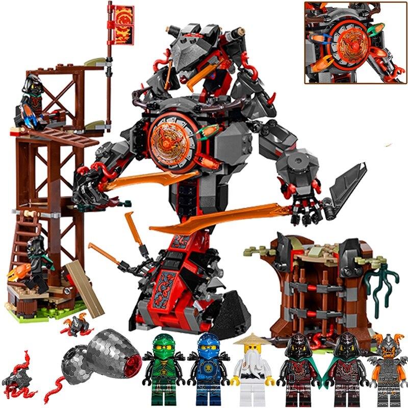 734PCS Compatible lepins Ninjagoes 70626 Dawn of Iron Doom Ninjagoes Mini Set 10583 Building Blocks Toys for Children Gifts