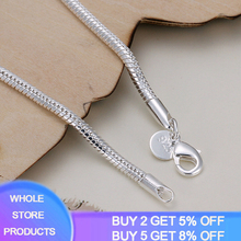 Bracelet Luxury Jewelry Bangle Snake-Chain 925-Silver-Lenght Women 100%Original Thick