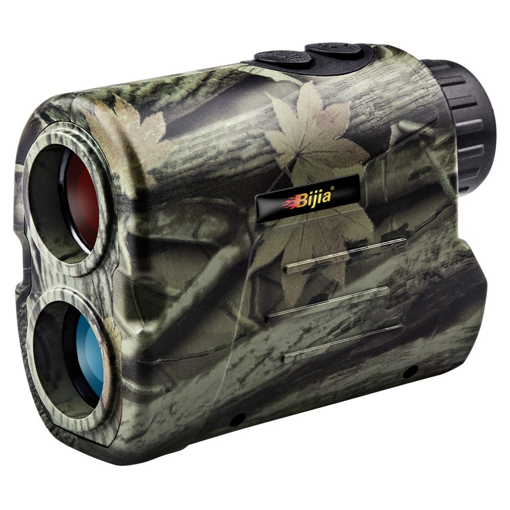 Bijia laser rangefinder caça 600m telescópio medidor de distância golf digital monocular golf range finder ângulo ferramenta medição