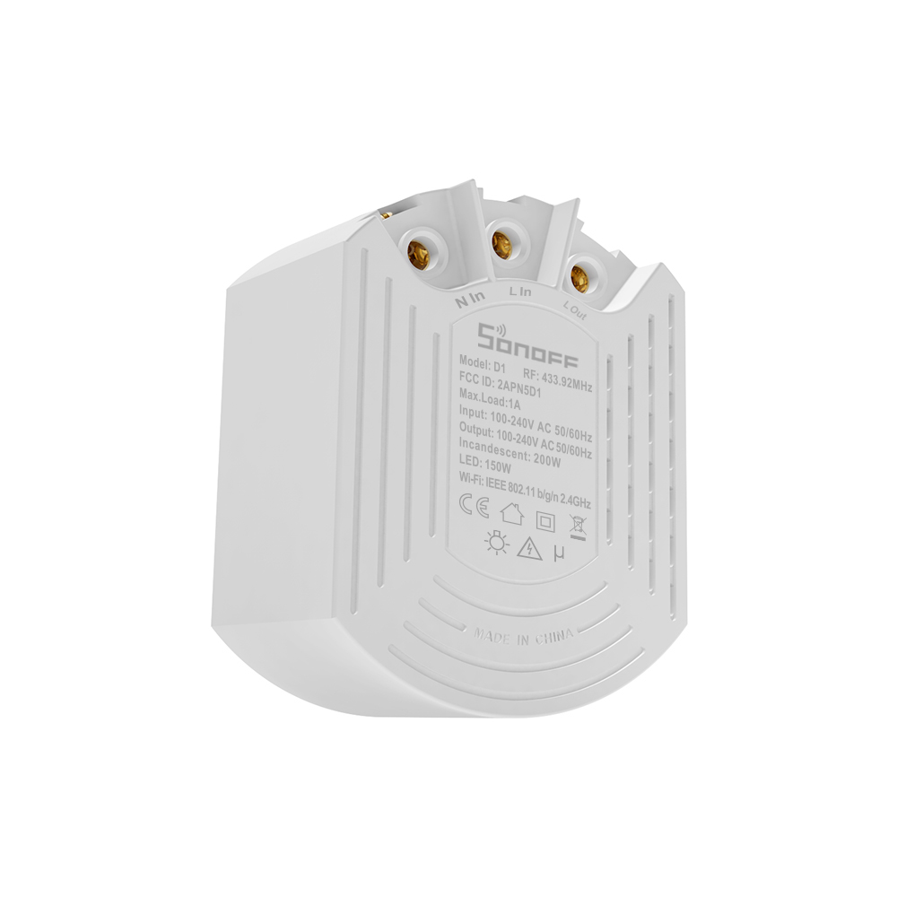 Image 3 - Sonoff D1 Smart Dimmer 433Mhz RF Controlled & Wi Fi Switch Adjust Light Brightness Work via eWeLink APP Google Home AlexaHome Automation Modules   -