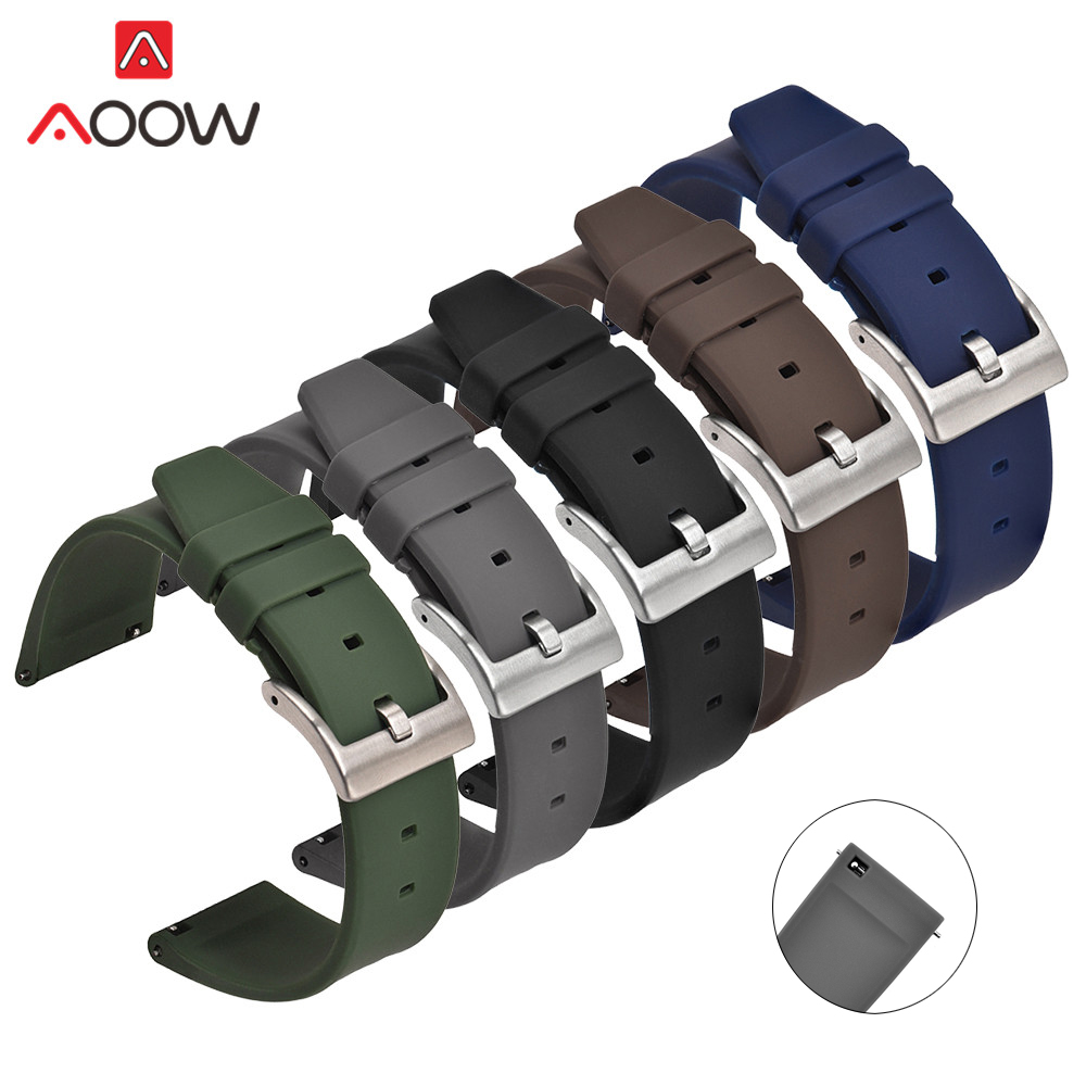 18mm 20mm 22mm Sport Silicone Strap Watchband For Samsung Galaxy Watch Active2 Gear S2 S3 Huawei Amazfit Men Replace Rubber Band