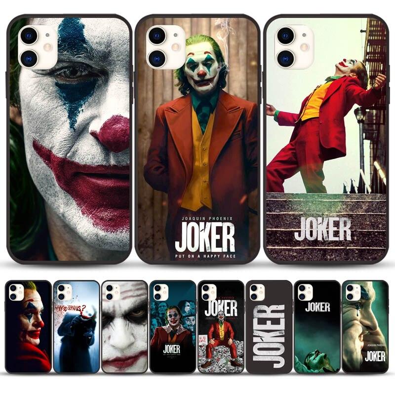 Black 2019 Joker Joaquin Phoenix Movie TPU Soft Rubber Phone Case Cover For Iphone 11 Pro Max 6 6S 7 7Plus 8 8Plus X XS MAX XR
